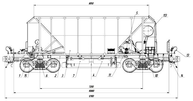 Вагон хоппер-дозатор модели 19-9953