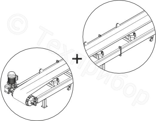 Конвейер ленточный (ленточный транспортер) желобчатый модели «лк-400»