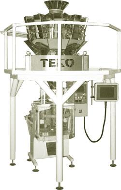 Мультиголовочное оборудование для упаковки сыпучих, штучных и мелкоштучных продуктов