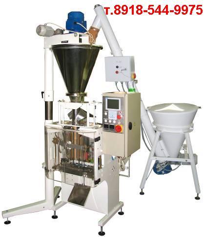 Шнековый автомат с объемным дозатором для фасовки упаковки пылящих порошков какао кофе молока сухого соды крахмала соды сухарей / видео каталог / упаковочноедело